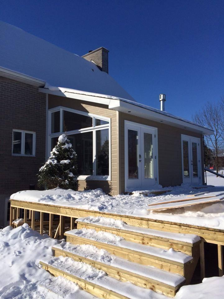 balcon maison en hiver
