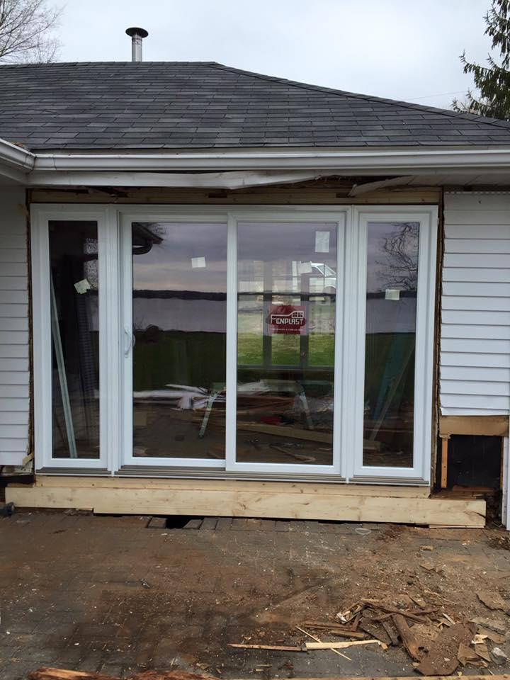 portes arrieres maison construction