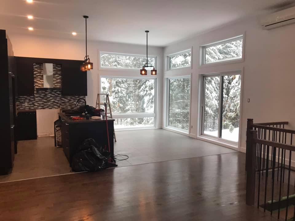 interieur maison hiver